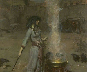 art, girl, and witch image