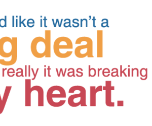 heart, text, and deal image