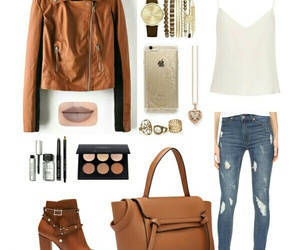 brown, girl, and outfit image