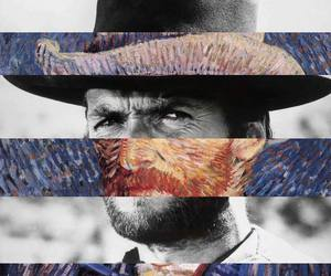 art, clint eastwood, and van gogh image