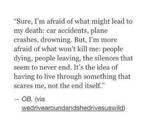afraid, break up, and life image