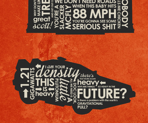80's, Back to the Future, and delorean image