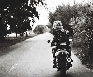 black and white, motorcycle, and perfect image