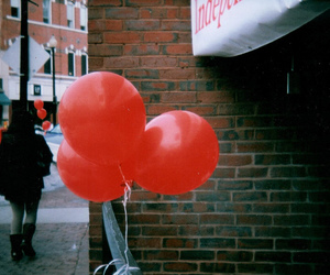 balloons, photography, and red image