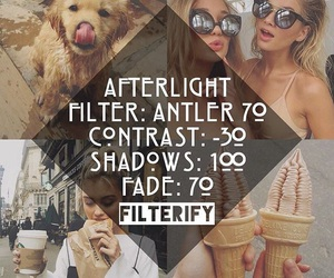 filter, filters, and afterlight image