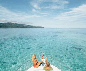 bikini, blue, and relax image
