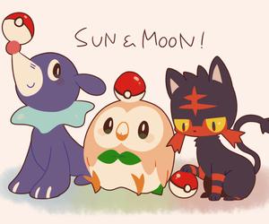 pokemon, litten, and rowlet image
