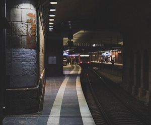 train, dark, and grunge image