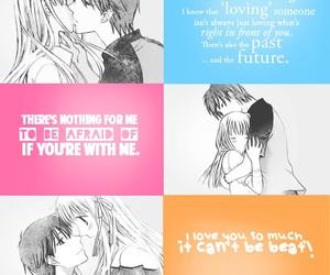 anime, cat, and hug image