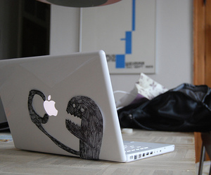apple, funny, and monster image