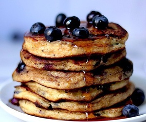blueberry, pancakes, and food image