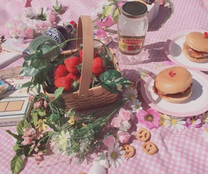 bagel, strawberry, and cute image