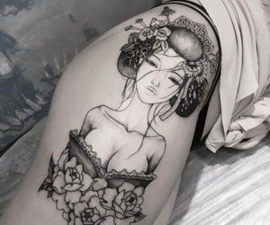girls, tattoo, and inked image