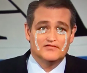 funny, snapchat, and ted cruz image