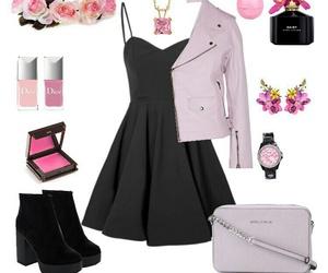 black, dress, and pink image