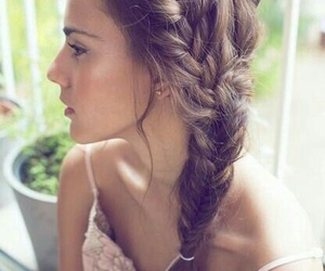 braids, sidebraid, and hairstyle image