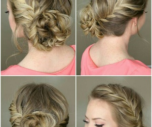 braids, hairstyle, and wedding image
