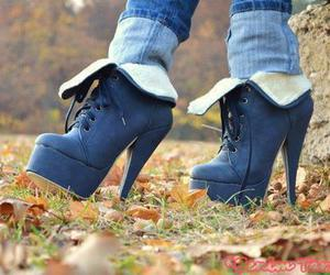 boots, jeans, and pretty image