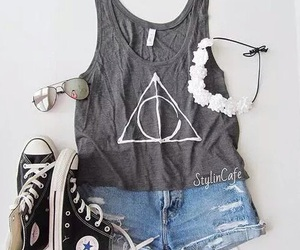 books, deathly hallows, and harry potter image