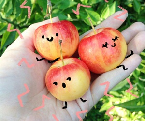 apple, cute, and face image
