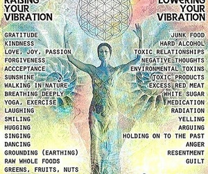 positive thinking, vibrations, and advices image