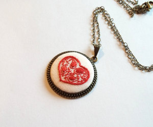 etsy, heart pendant, and necklaces for women image