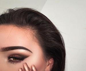 contour, eye, and girl image