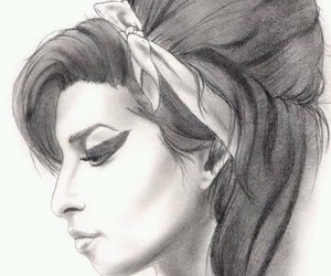 Amy Winehouse, drawing, and draw image