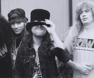 Guns N Roses, dave mustaine, and slash image