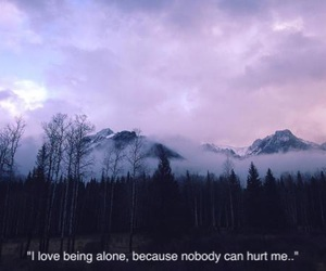 alone, nature, and quotes image