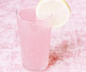 pink, drink, and lemon image