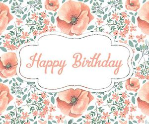 card, flowers, and happy birthday image
