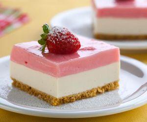 food, dessert, and strawberry image
