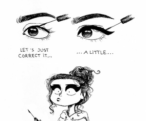 funny, eyeliner, and makeup image