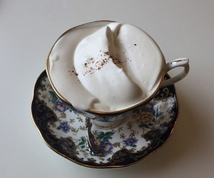 china, whipped cream, and hot drink image