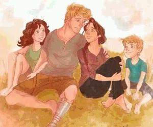 peeta, katniss, and hunger games image