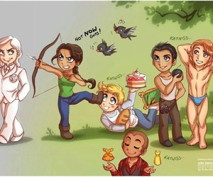 hunger games, katniss, and gale image