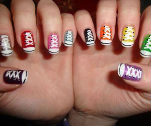 nails, converse, and shoes image