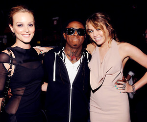 leighton meester, miley cyrus, and lil wayne image
