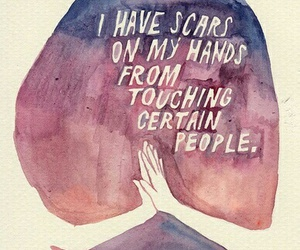 scars, quotes, and people image