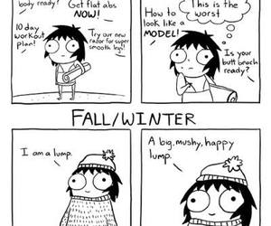 funny, winter, and fall image