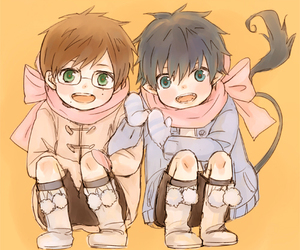 ao no exorcist, cute, and blue exorcist image