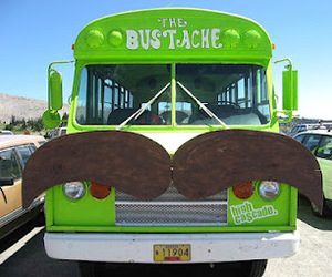 bus, mustache, and green image