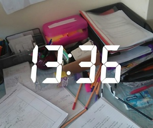 school, time, and revision image