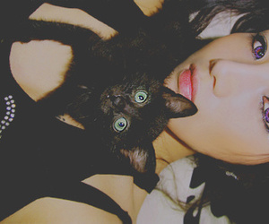 cat, ulzzang, and hwang ji min image