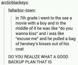 funny, tumblr, and kiss image