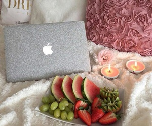 breakfast, candle, and FRUiTS image