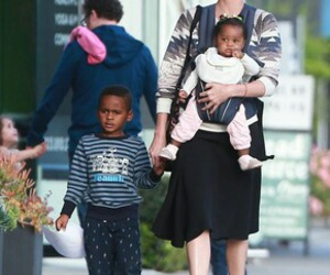 Charlize Theron, family, and cute image