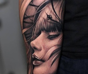 tattoo, girl, and time image