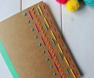 diy, notebook, and colors image